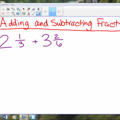 Review 1 Add and Subtract Frac w unlike den