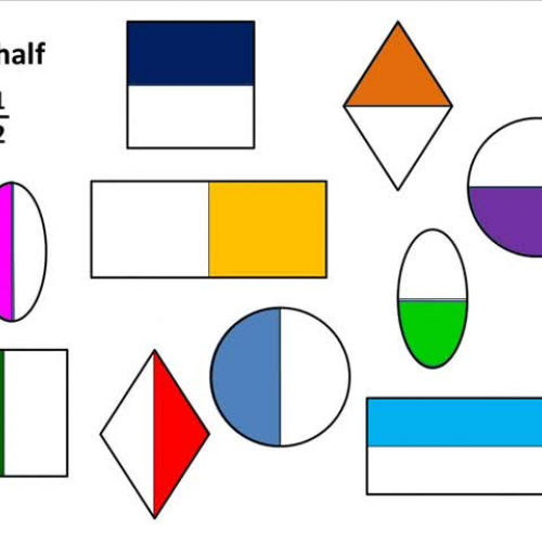 Fraction Pictures for Discussion Fourth Half