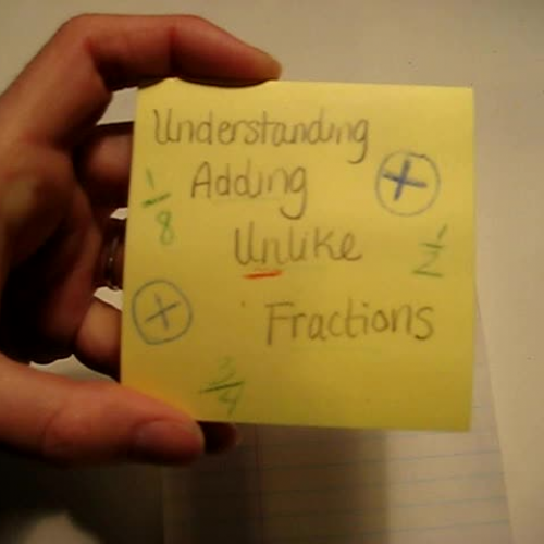 Understanding Addition of Unlike Fractions (1