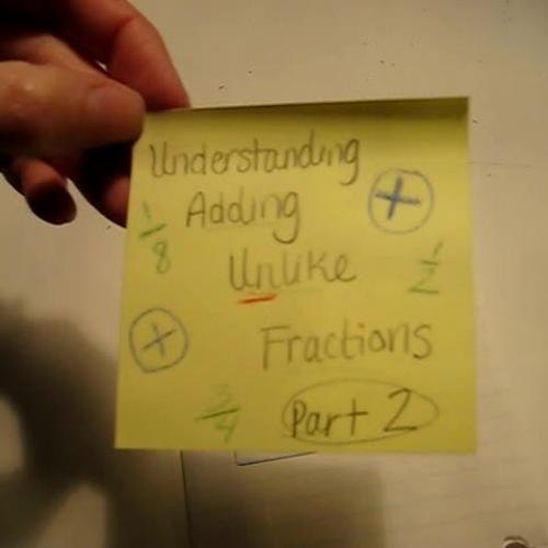 Understanding Addition of unlike fractions (2