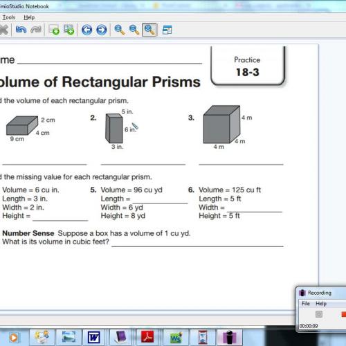18-3 Volume of Rectangular Prisms