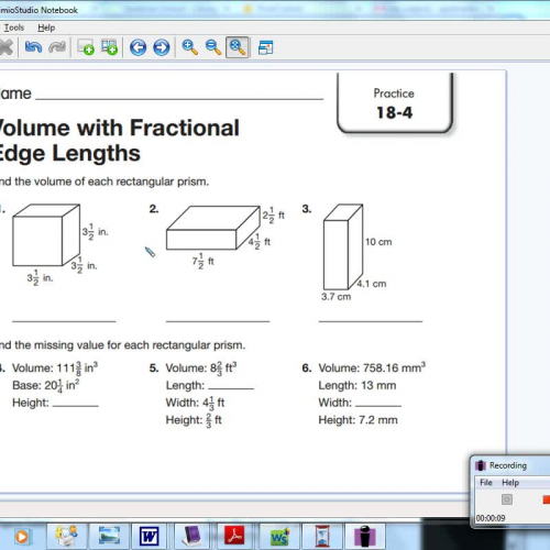 18-4 volume with fractional edge lengths