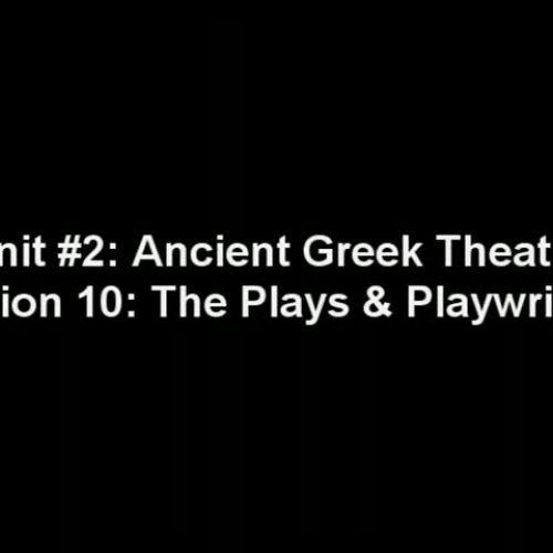 Plays and Playwrights