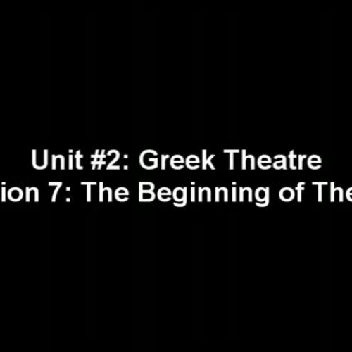 The Beginning of Theatre