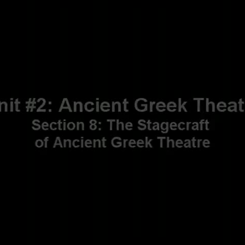 The Stagecraft of Ancient Greek Theatre
