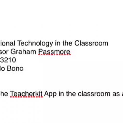 Teacherkit App Tutorial