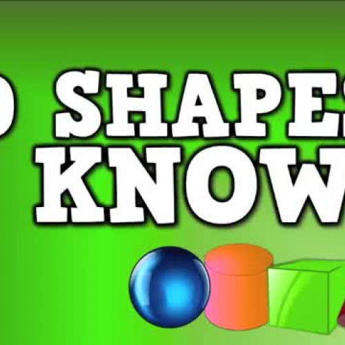 3D Shapes I Know (solid shapes song)