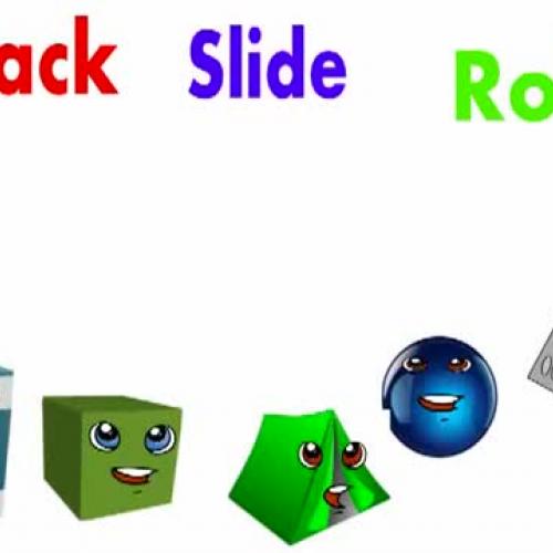 Stack slide or roll 3D shape song