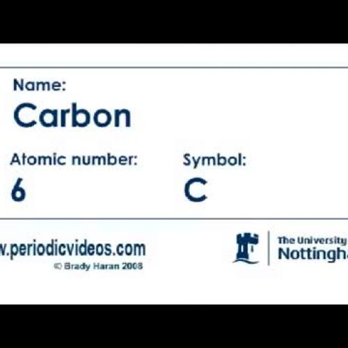 Carbon (version 1) - Periodic Table of Videos