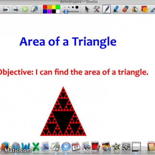 Area of A Triangle Video