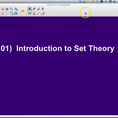 AG-7.01 Introduction to Set Theory