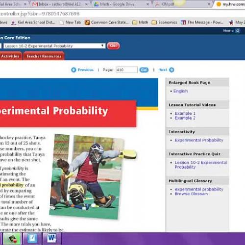 10.2 Experimental Probability