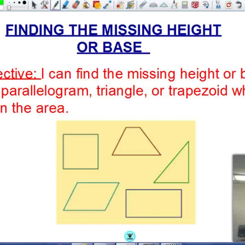Finding the missing base and height