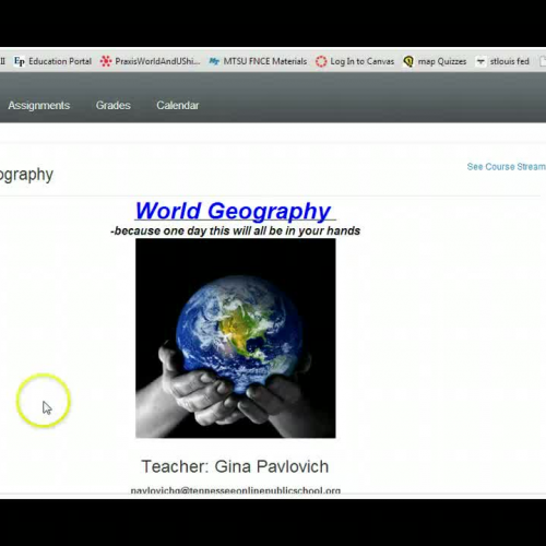 World Geography How To Video Canvas