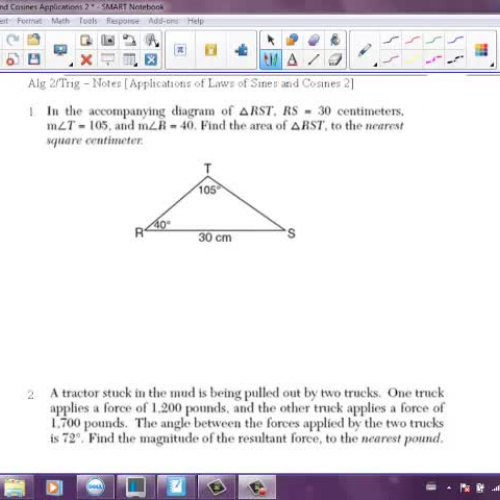 Law of Sines Cosines Applications 2