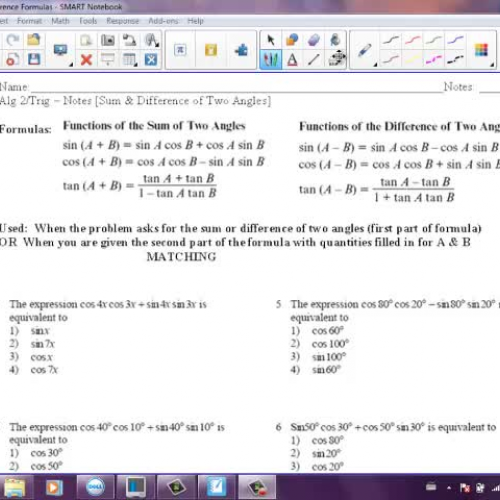 Sum and Difference of Two Angles