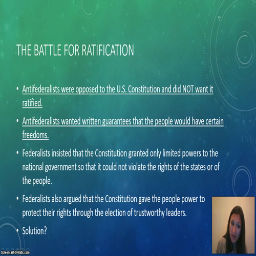 8.3 Ratification and the Bill of Rights
