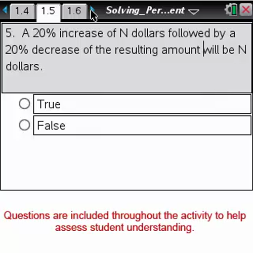 Solving Percent Problems [Math Nspired Preview Video]