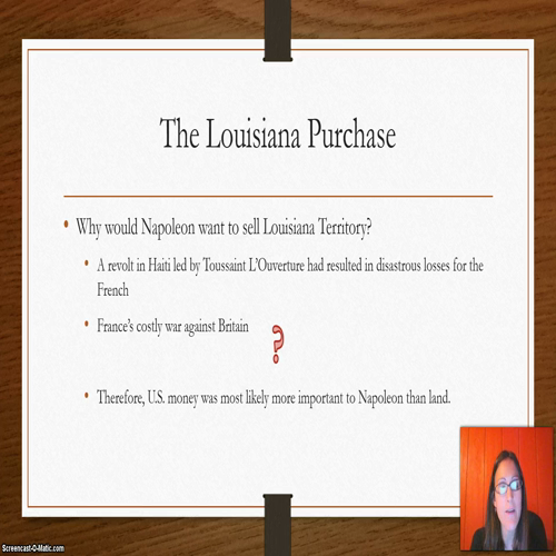Ch 10.2 The Louisiana Purchase and Exploration