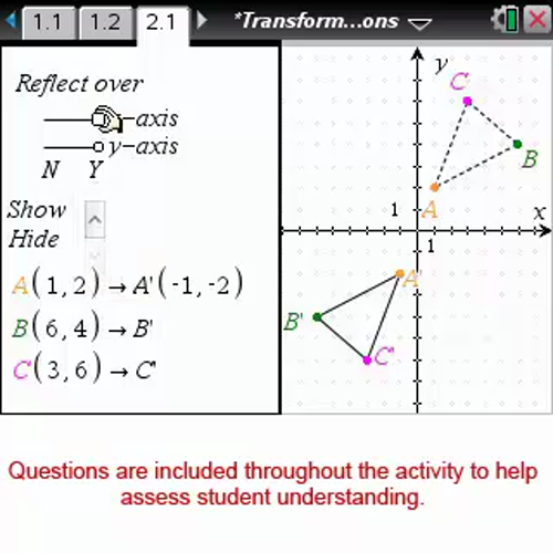 Transformations Reflections [Math Nspired Preview Video]