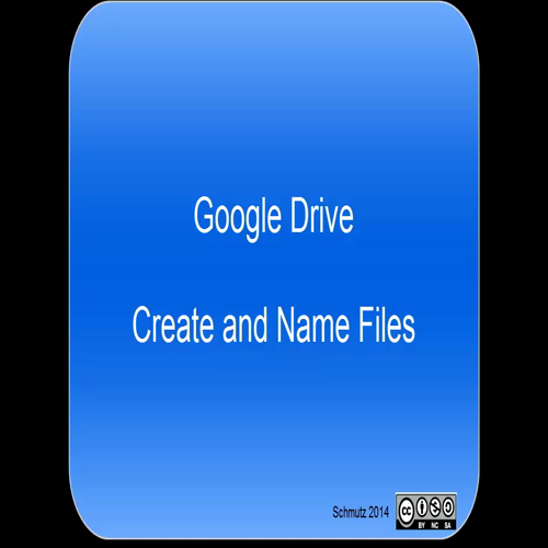 Google Drive (OLD) - Create and Name Files