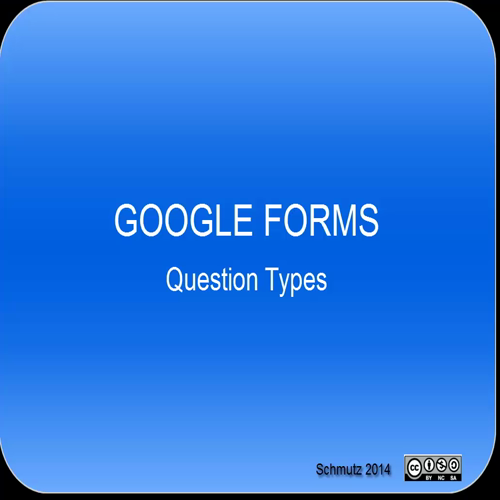 Google Forms - Question Types