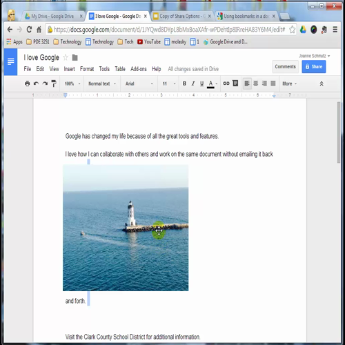 Google Drive - Image Layout