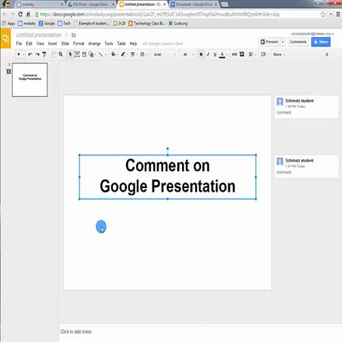 Google Drive - Comments