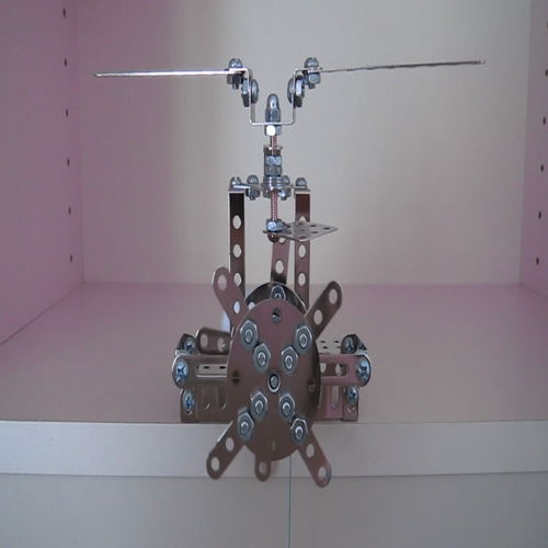 Erector Set Clock Escapement - Verge and Foliot