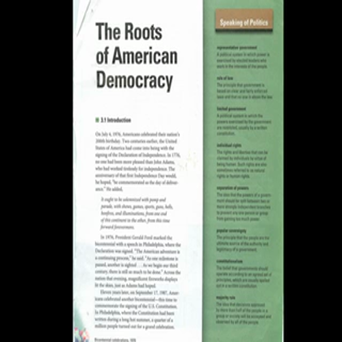 The Roots of American Democracy, Chap 3, section 1, Vocabulary