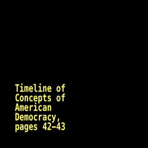 Roots of American Democracy Timeline, Chap. 3, sc. 2