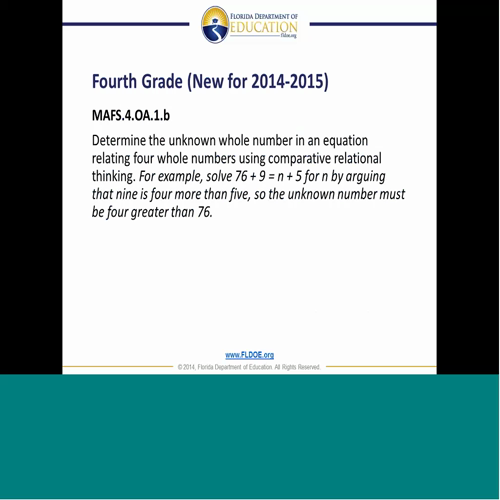 Finding resources aligned to the math standards in elementary education-