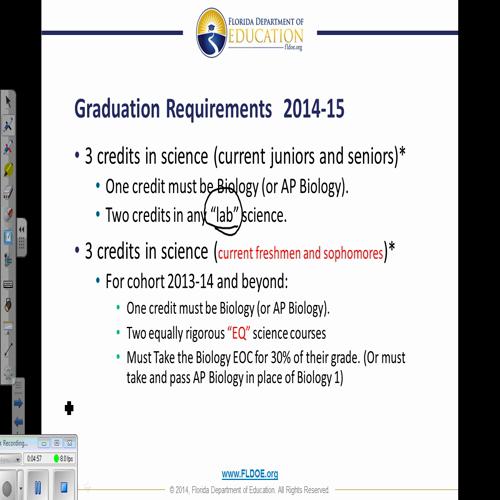 Florida science updates 2014