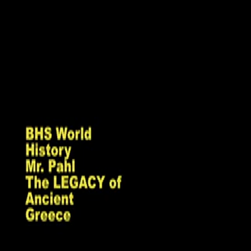 The Main Legacy of Ancient Greece