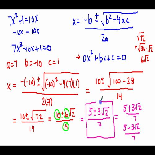 quadratic formula 2