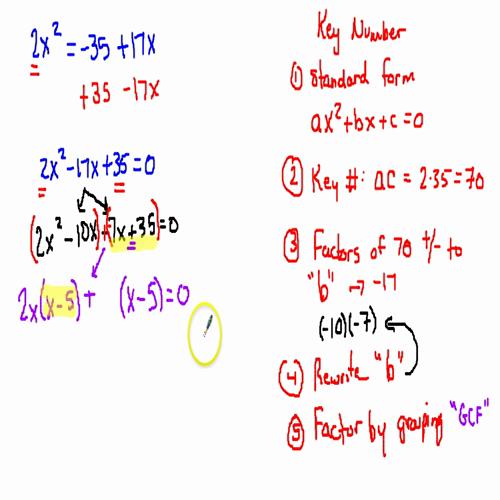 key number method 2