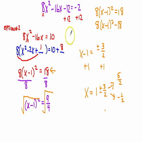 Completing the Square When a Does Not Equal 1, Even Middle Term