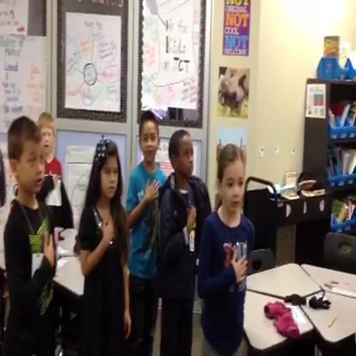 Ms. Thomas' Class (Pledge of Allegiance)