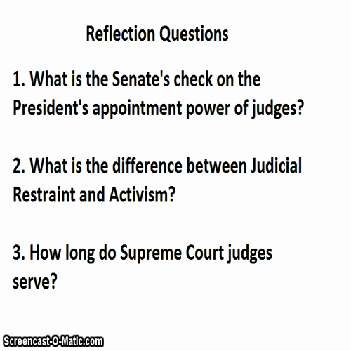 Judicial Branch (part 3-Federal Judges)