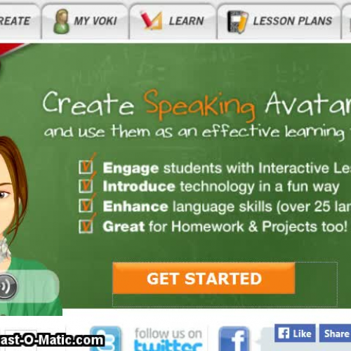 Screencast-o-matic for Voki and Web based learning class