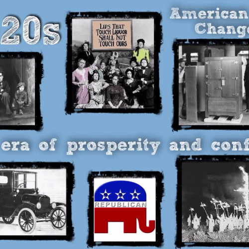 1920s - American Life Changes