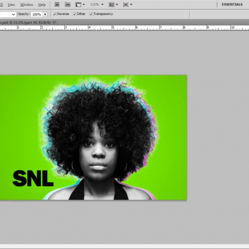 SNL Bumper Photo Add On- Radial Gradient Effect