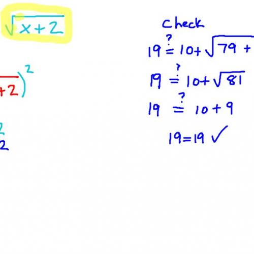 Solving a Radical Equation