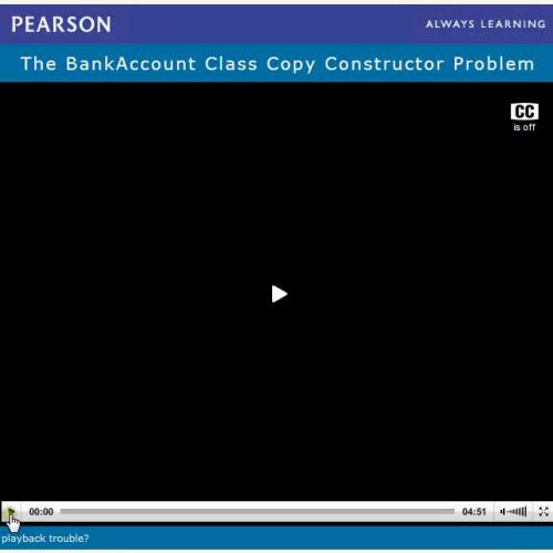 Programming Challenge, BankAccount Class Copy Constructor
