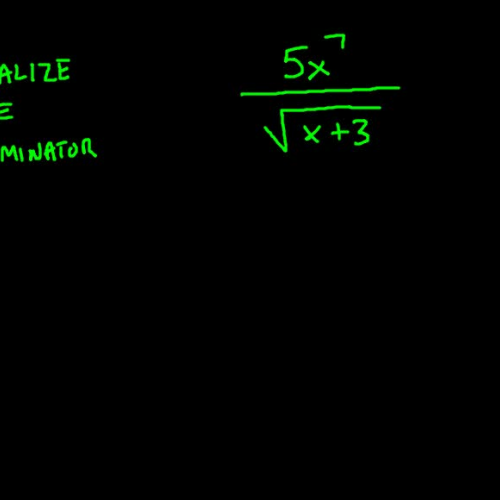Rationalizing the Denominator (square root example)