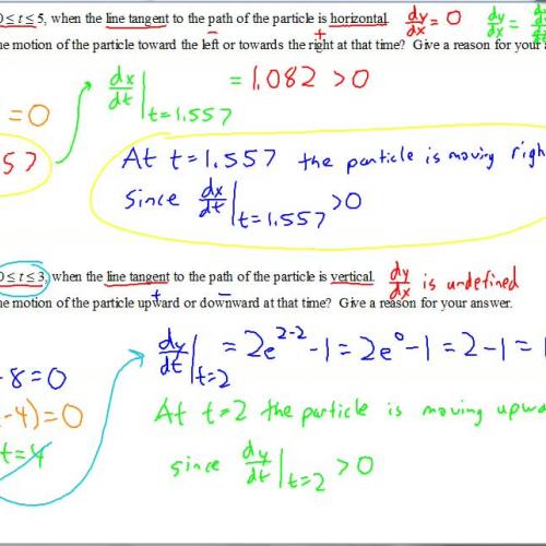 AP Calculus BC Notes Parametric Formulas for Calculus