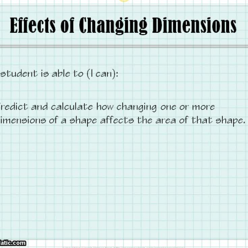 Obj. 40 Effects of Changing Dimensions