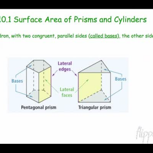 Geo 10.1 Surface Areas of Prisms and Cylinders