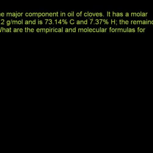 Kahn Academy - Molecular and empirical formulas from percent composition