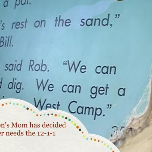 At-Risk Kindergartener Reading!